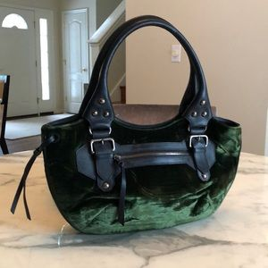Giorgio Armani Leather & Velvet Bag
